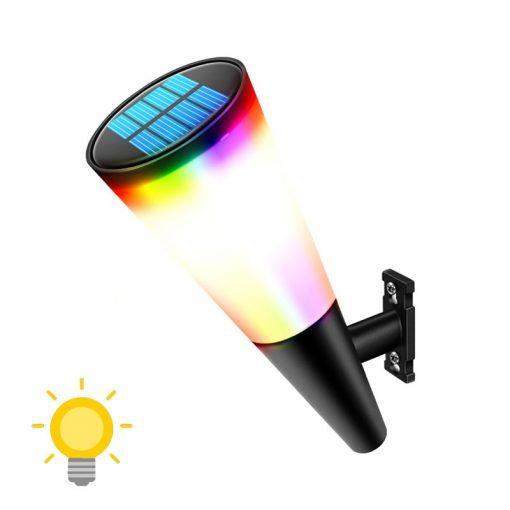 éclairage exterieur solaire couleur