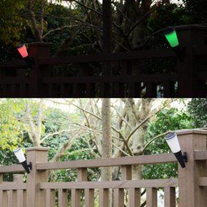 eclairage exterieur solaire couleur jardin