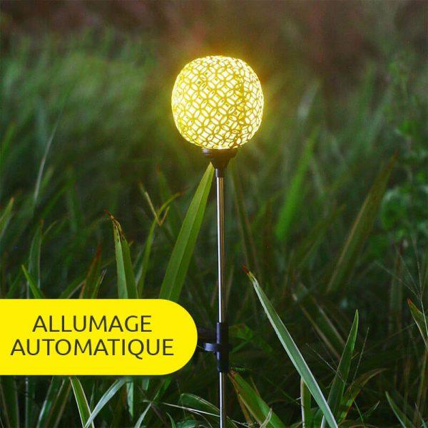 eclairage exterieur solaire decoratif LED