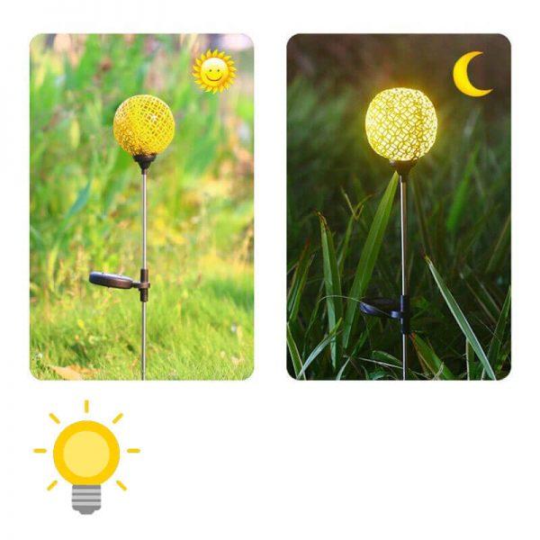 eclairage exterieur solaire decoratif jardin
