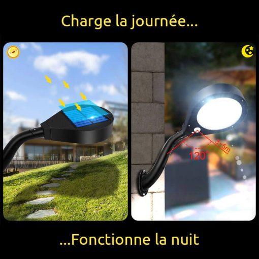 eclairage solaire avec detecteur de presence exterieur