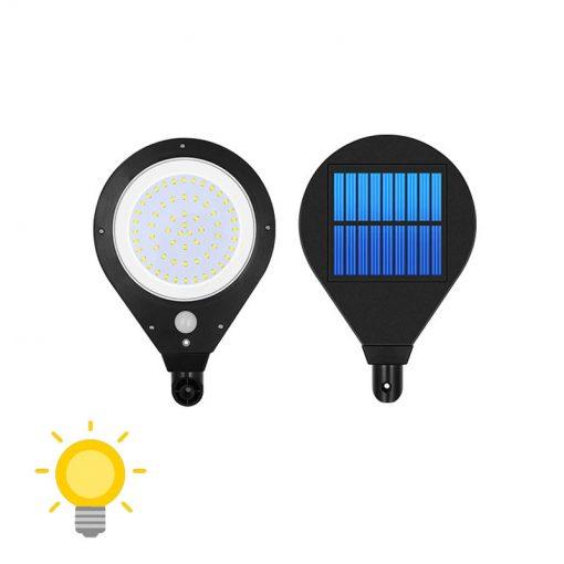 eclairage solaire avec detecteur de presence lampe