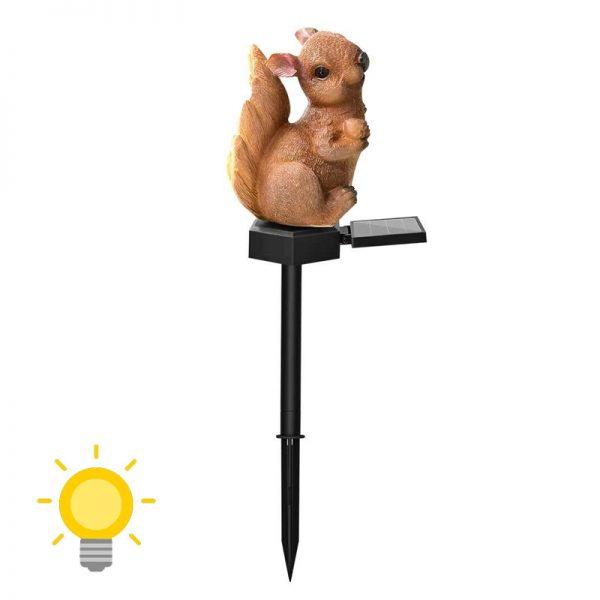 ecureuil lumineux solaire