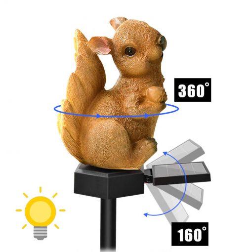 ecureuil lumineux solaire deco