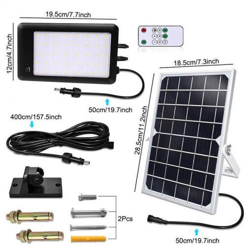 projecteur solaire a led avec detecteur avec telecommande