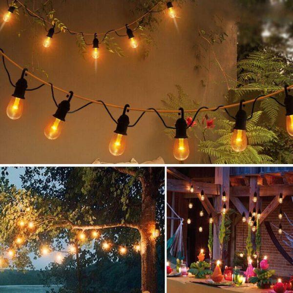 guirlande ampoules solaires jardin