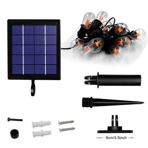 guirlande ampoules solaires led