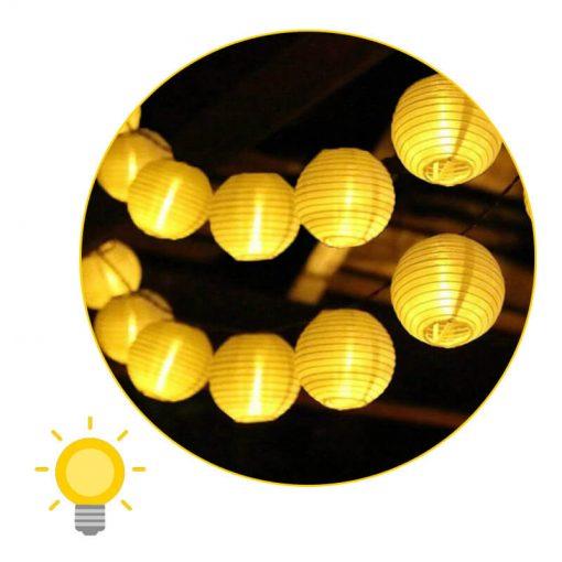 guirlande solaire lampion