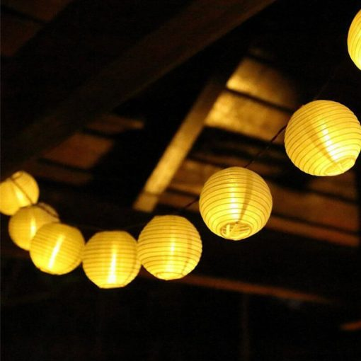 guirlande solaire lampion chinois