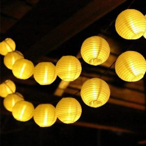 guirlande solaire lampion chinoise