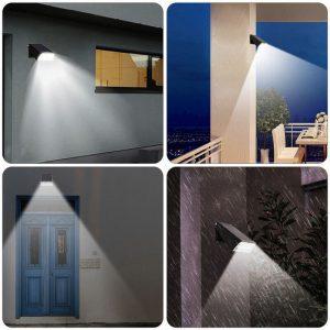 lampe led exterieur sans fil solaire murale