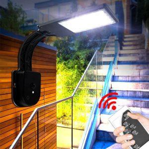 lumiere avec detecteur de mouvement solaire jardin