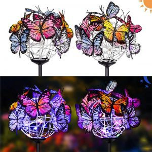 papillon solaire jardin deco