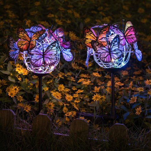 papillon solaire jardin exterieur