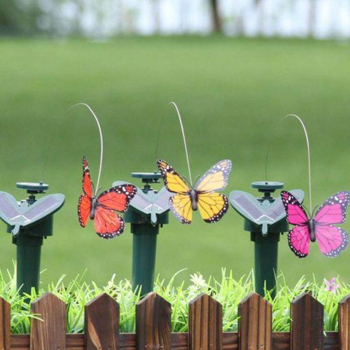 papillon solaire virevoltant jardin