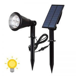spot solaire avec panneau deporte