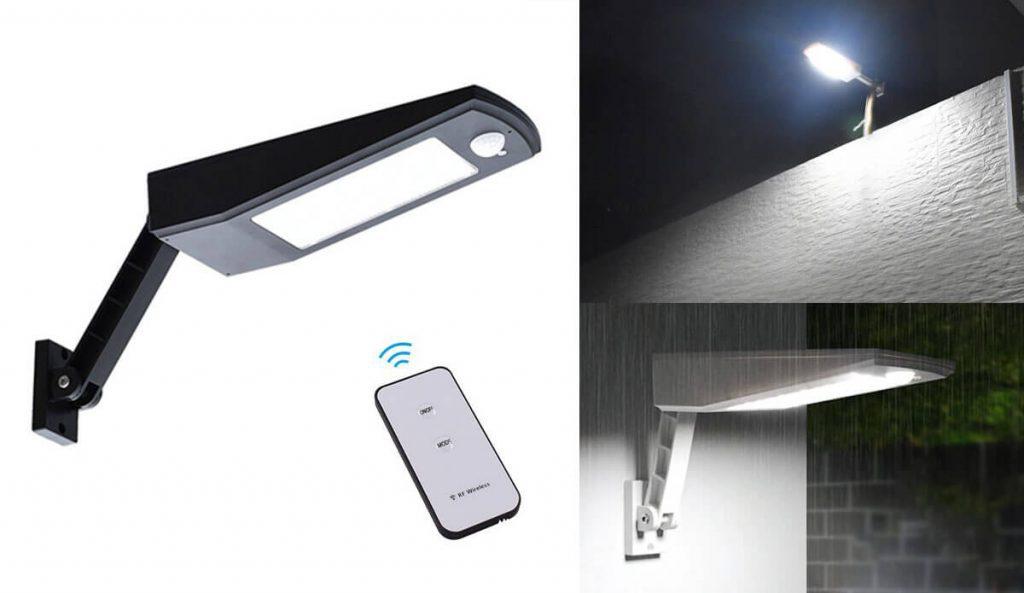 applique solaire exterieur avec télécommande 1