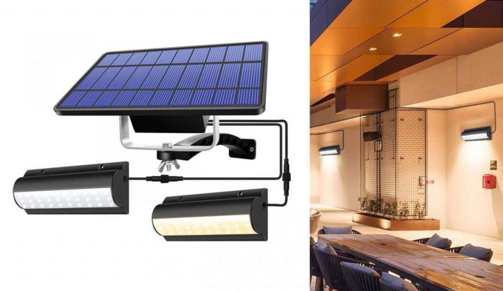 applique solaire exterieur deportée