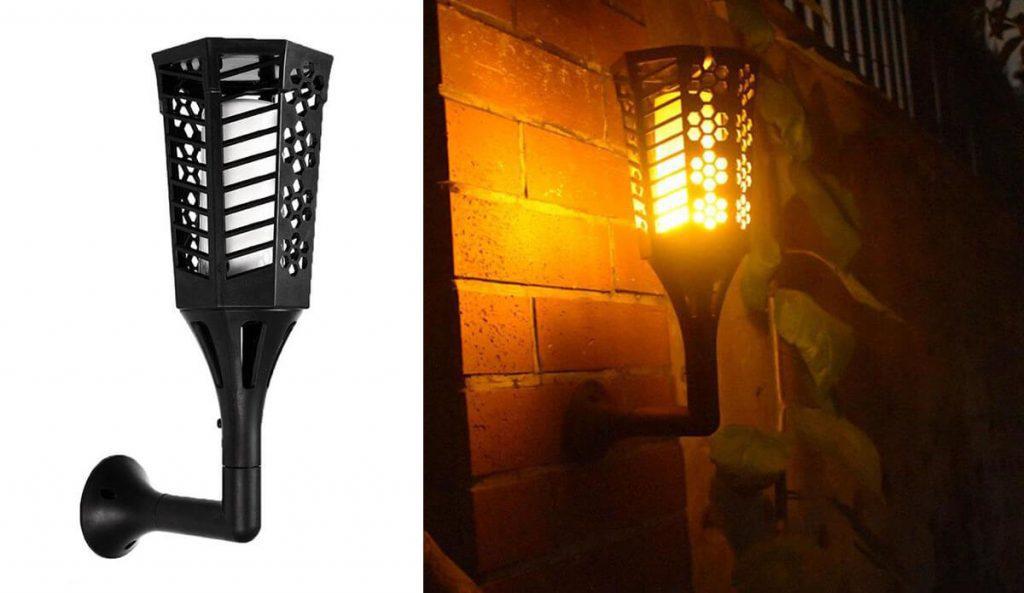 applique solaire exterieur torche