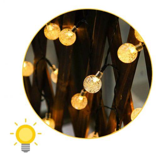 guirlande boule solaire jardin