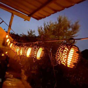 guirlande lumineuse exterieur solaire guinguette