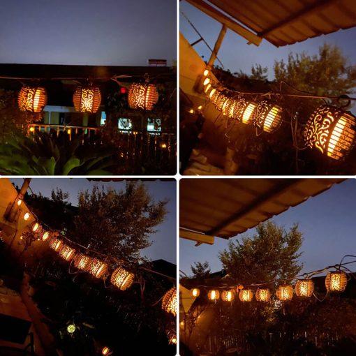 guirlande lumineuse exterieur solaire guinguette ampoules