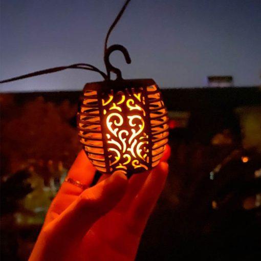 guirlande lumineuse exterieur solaire guinguette flamme