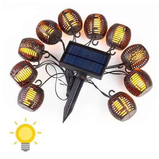 guirlande lumineuse exterieur solaire guinguette led