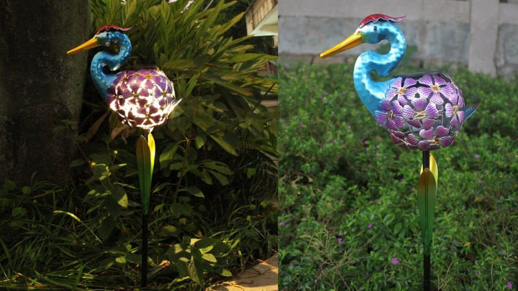 lampe solaire animal canard