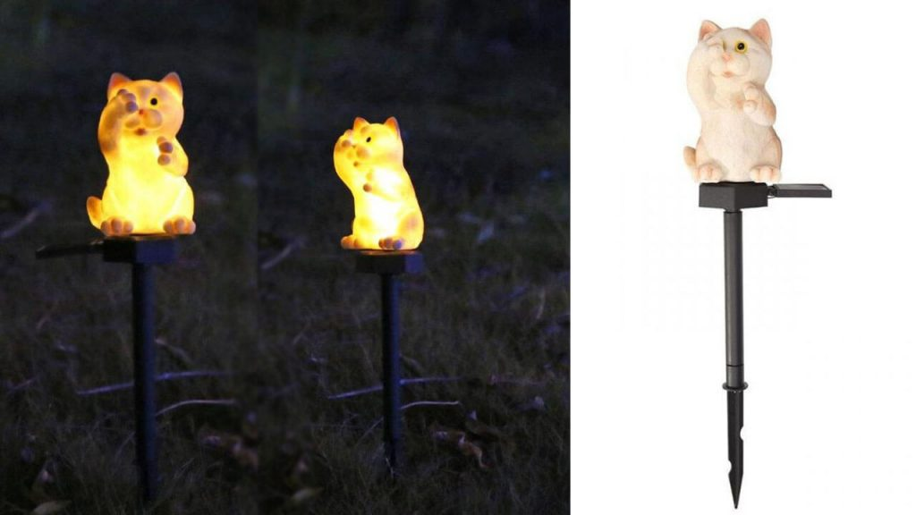 lampe solaire animal chat