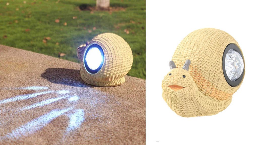 lampe solaire animal escargot