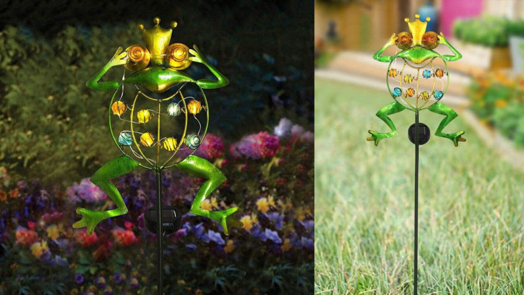 lampe solaire animal grenouille