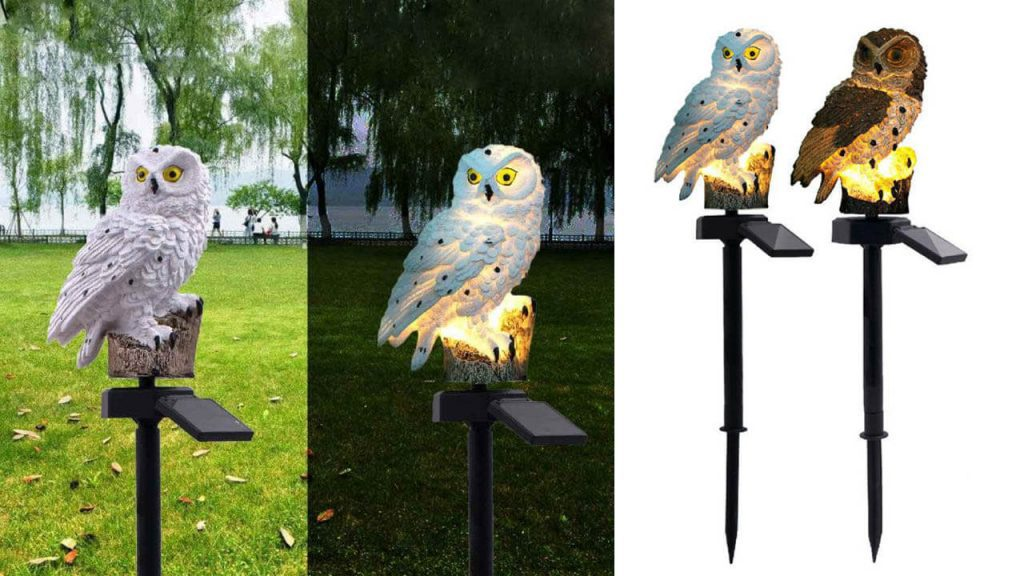 lampe solaire animal hibou