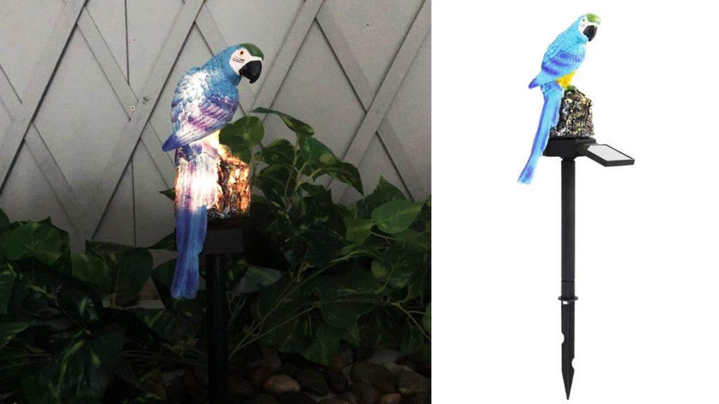 lampe solaire animal perroquet