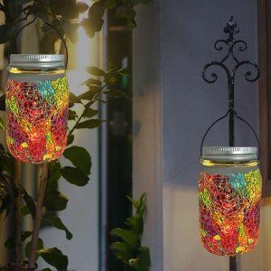 bocal lumineux solaire jardin