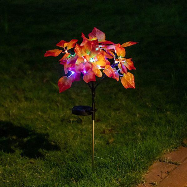 fleurs solaire jardin led