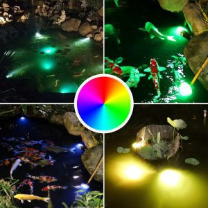 lampe solaire submersible couleur rgb