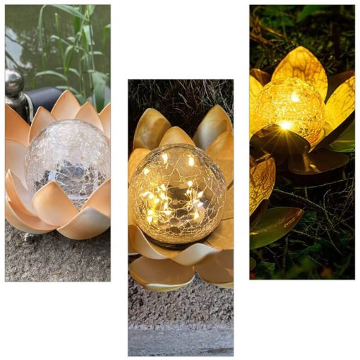 nenuphar lumineux solaire jardin
