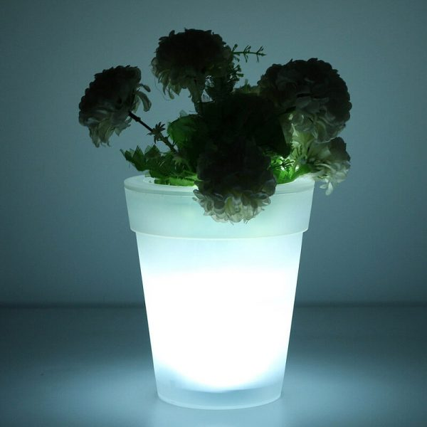 pot de fleur solaire led
