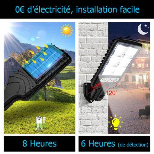 eclairage exterieur solaire puissant avec detecteur de mouvement jardin