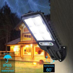 eclairage exterieur solaire puissant avec detecteur de mouvement led
