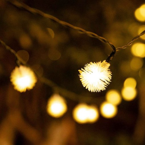 guirlande lumineuse solaire noel jardin