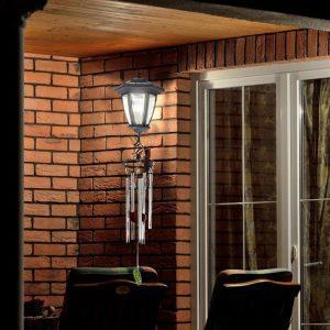 lampe solaire avec carillon jardin