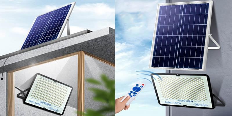 projecteur solaire exterieur installation