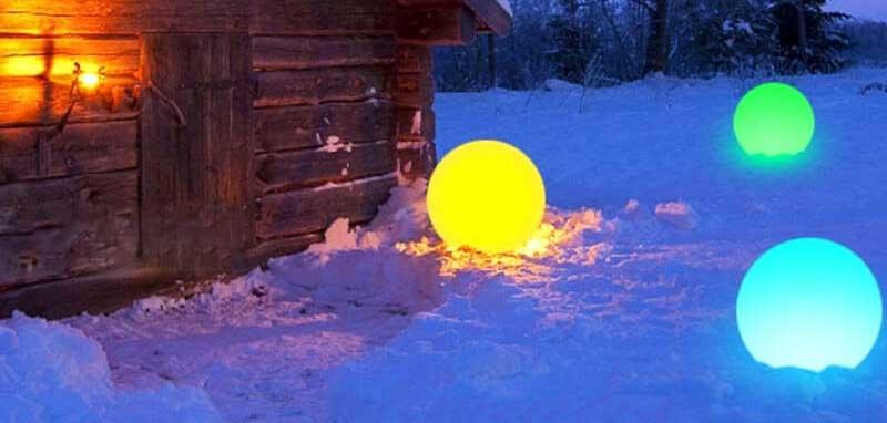 deco noel solaire boule