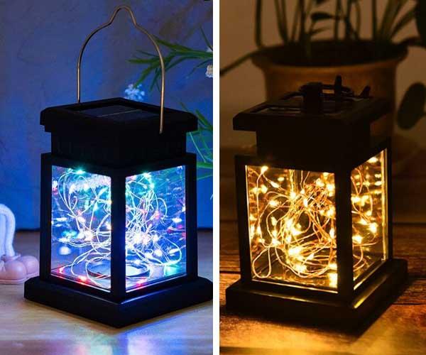 deco noel solaire exterieur lanterne