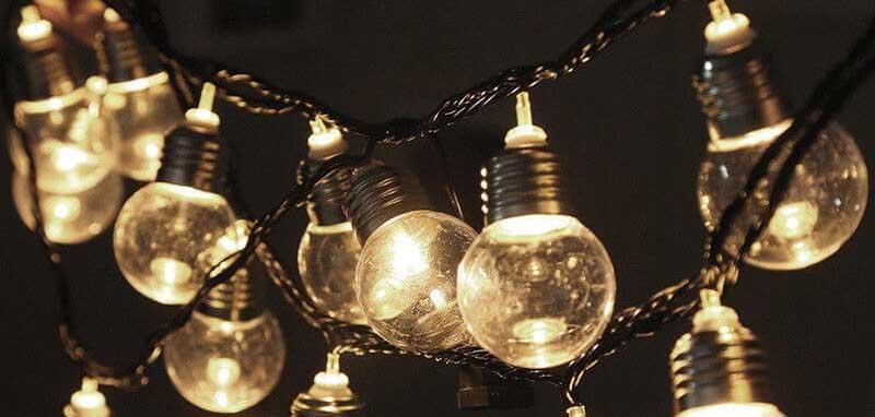 deco noel solaire guirlande boules