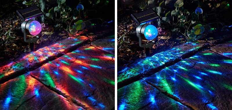 deco noel solaire projecteur