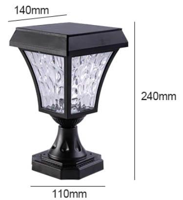 dimensions luminaire solaire poteau