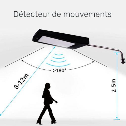 lampe solaire exterieur puissante detecteur de mouvement